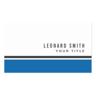 Blue border modern stylish white professional business card templates