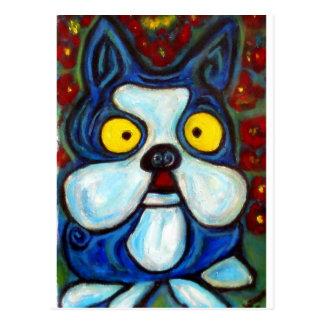 BLUE BOSTON ART POSTCARD