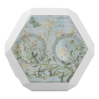 Blue Botanical White Bluetooth Speaker
