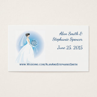 Blue Bouquet Personal Wedding Business Cards