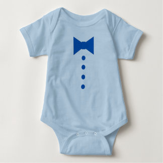 Blue Bow-tie and Buttons Baby Bodysuit