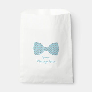 Blue Bow Tie Baby Shower Favour Bag