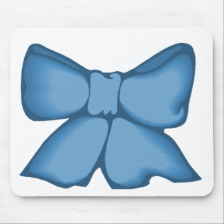 Blue Bowed Betties Mouse Pad