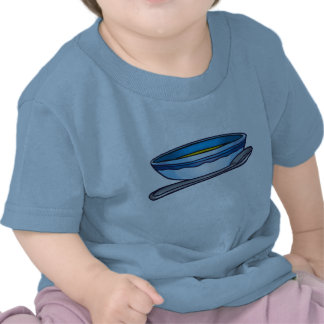 Blue Bowl and Spoon Shirt