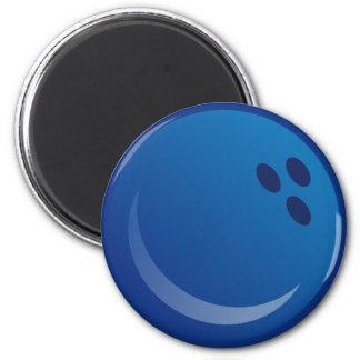 Blue Bowling Balls Magnet
