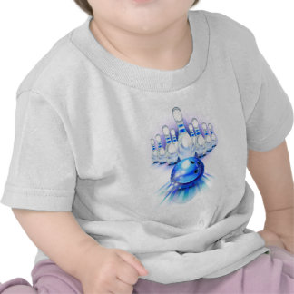 Blue bowling shirts