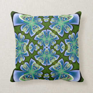 Blue Bows on Green American MoJo Pillow