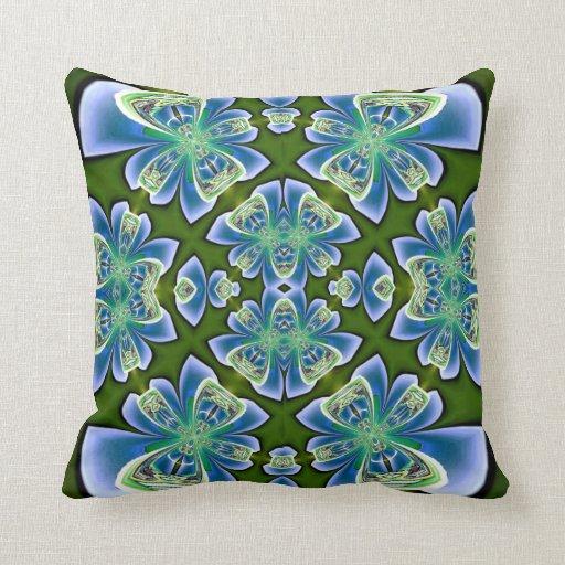 Blue Bows on Green American MoJo Pillow
