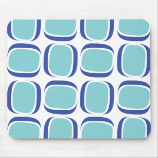 Blue Box 60s Pattern Mouse Pad