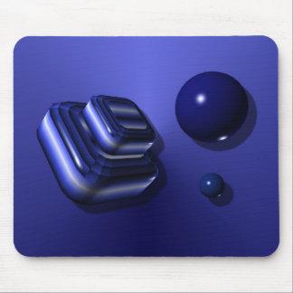Blue Box Design Mouse Pad