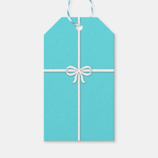 Blue box gift tags