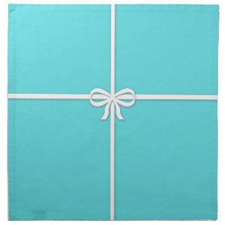 Blue box napkin
