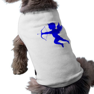 Blue Boy Angel Doggie Ribbed Tank Top Sleeveless Dog Shirt