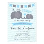 Blue Boy Peanut Elephant Baby Shower invitation