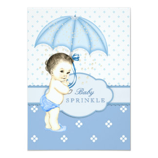 Blue Boy Sprinkle Baby Shower Card