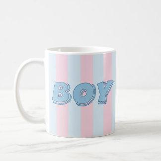 Blue Boy with Pink Stripes Coffee Mug