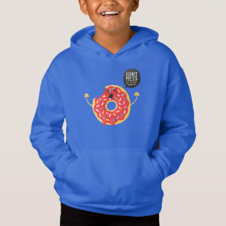 Blue Boys Hoodie Cool Donut Bite Mess With Me