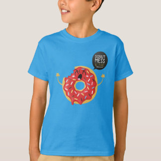 Blue Boys Shirt Cool Unisex Donut Mess With Me