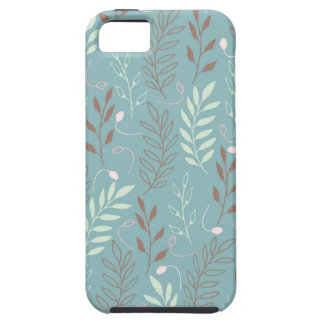 Blue Branches and Leaves Background Case For The iPhone 5