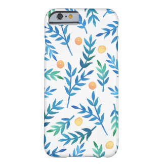 Blue Branches + Coral Berries Barely There iPhone 6 Case