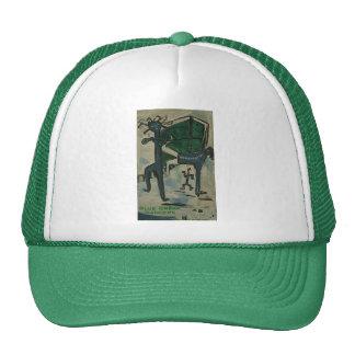 blue break dancers trucker hats
