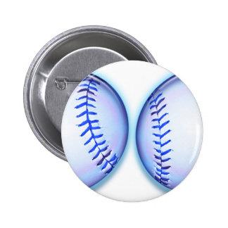 Blue Breast Baseballs 6 Cm Round Badge