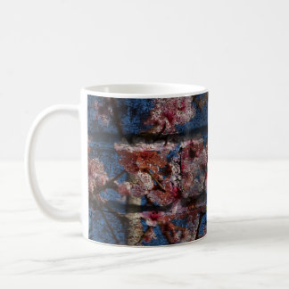 Blue Brick and Blossoms Mug