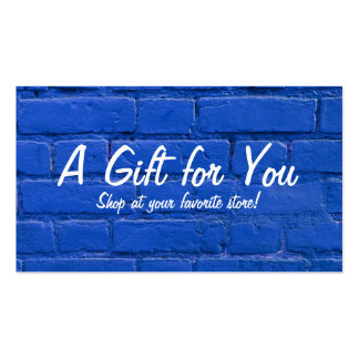 Blue Brick Gift Card Pack Of Standard Business Cards