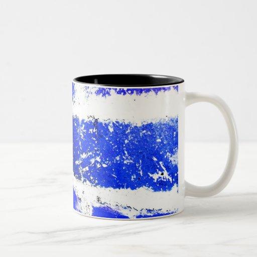 Blue brick mug