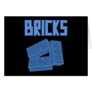 Blue Bricks by Customize My Minifig Greeting Card