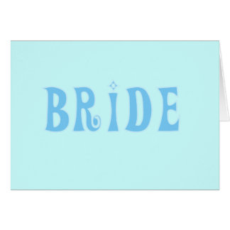 Blue Bride T-shirts and Gifts Greeting Card
