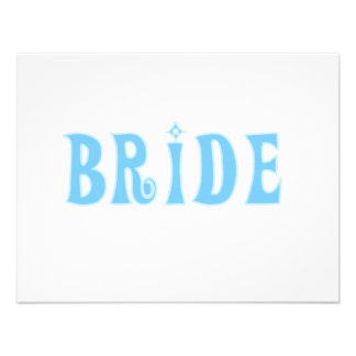 Blue Bride T-shirts and Gifts Invitations