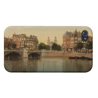 Blue Bridge and the Amstel River Amsterdam iPhone 4 Cover