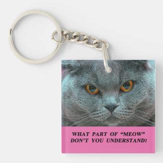 Blue British Shorthair key chain