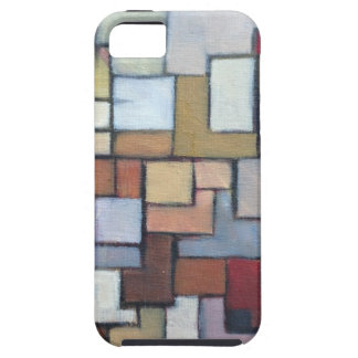 Blue Brown Abstract Urban Art Original Tough iPhone 5 Case
