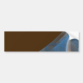 Blue & Brown Fractal Background Bumper Sticker