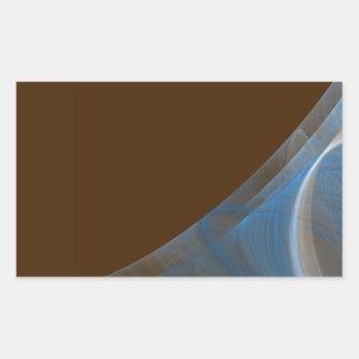 Blue & Brown Fractal Background Rectangle Sticker