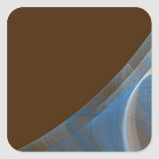 Blue & Brown Fractal Background Square Sticker