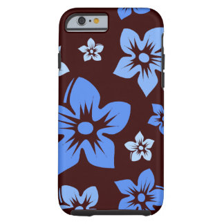 blue & brown hawaiian flowers iPhone 6 case Tough iPhone 6 Case