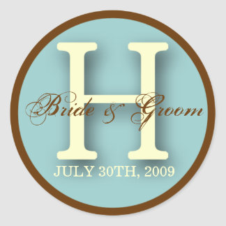 Blue & Brown Monogram H Sticker