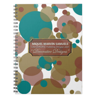 Blue Brown Purple Bubbles Modern Notebook