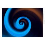 Blue Brown Spiral Cute Cool Modern Abstract Art