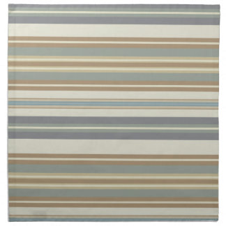 Blue & Brown Stripe Napkin
