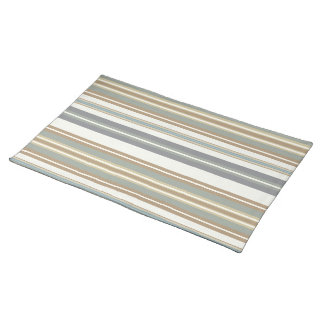Blue & Brown Stripe Placemat