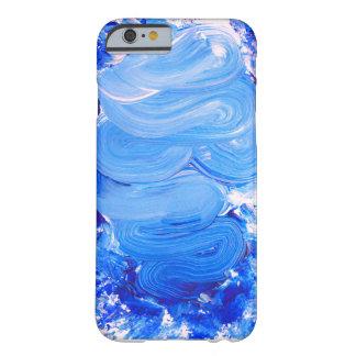 Blue Brush Stroke iPhone Case