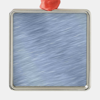 Blue Brushed Metal Textured Silver-Colored Square Decoration