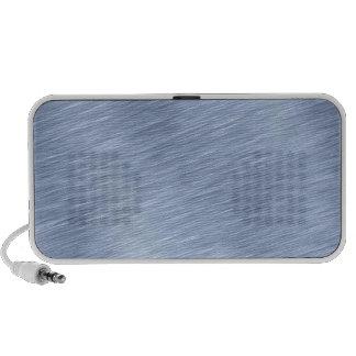 Blue Brushed Metal Textured Travel Speaker