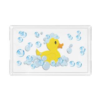 Blue Bubble Baby Shower Acrylic Tray
