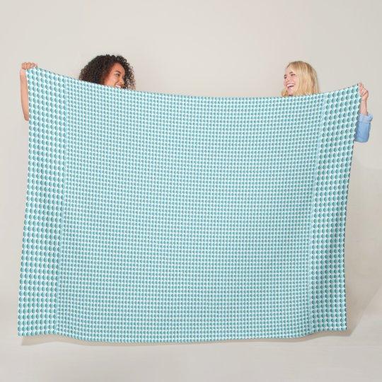 Blue-Bubble-Beads-Surfer-Fleece-Lg Fleece Blanket