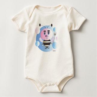 Blue Bubble Bee2 Baby Bodysuit